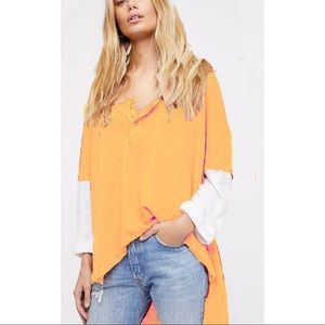 Free People We The Free Star Henley Relaxed Tee